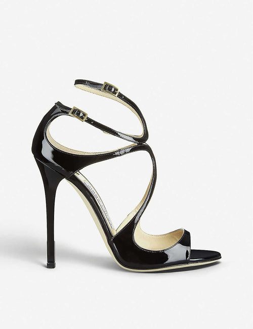 Lance 115 patent-leather heeled sandals