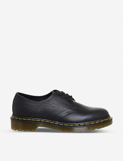 3-eyelet leather shoes