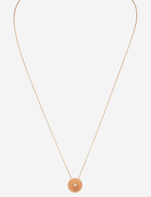 Cactus de Cartier 18ct pink-gold and diamond necklace
