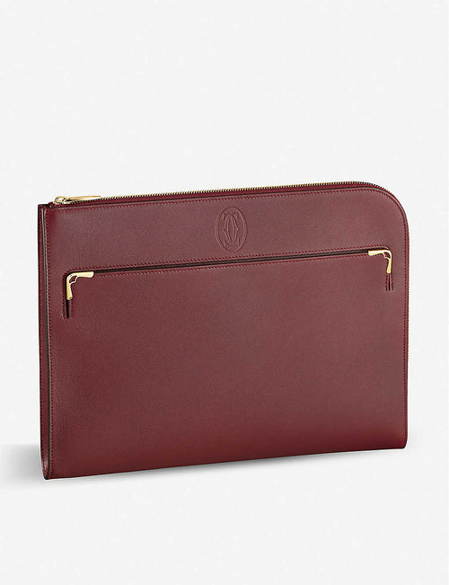 Must de Cartier leather portfolio bag