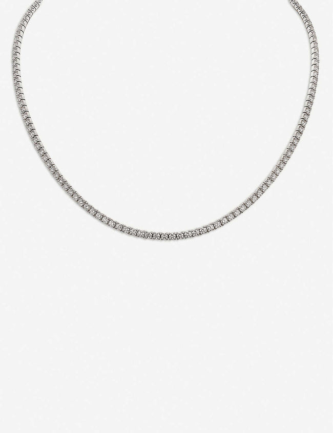 Lignes 18ct white-gold and diamond necklace