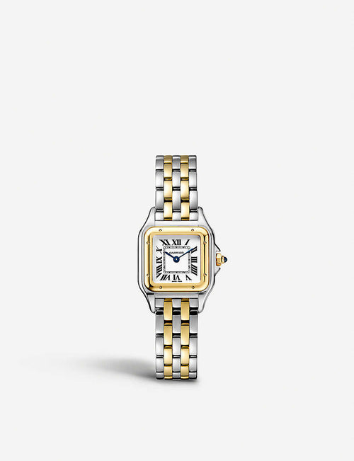 Panth?re de Cartier small 18ct yellow-gold and stainless steel watch