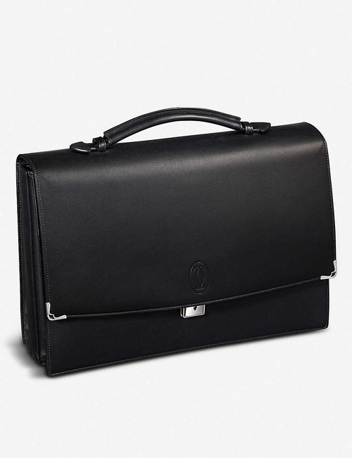 Must De Cartier leather briefcase