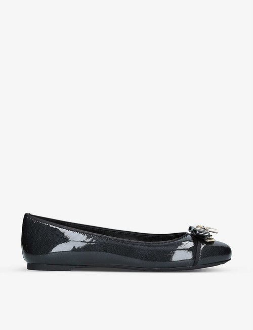 Alice patent-leather ballet shoes