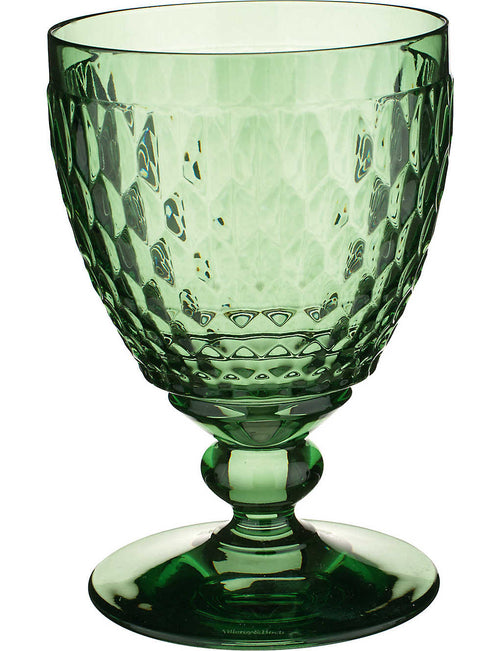 Boston crystal water goblet