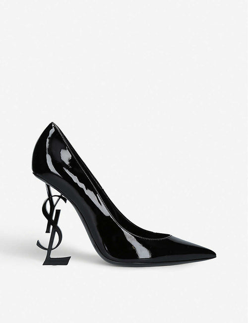 Opyum logo heel patent leather courts