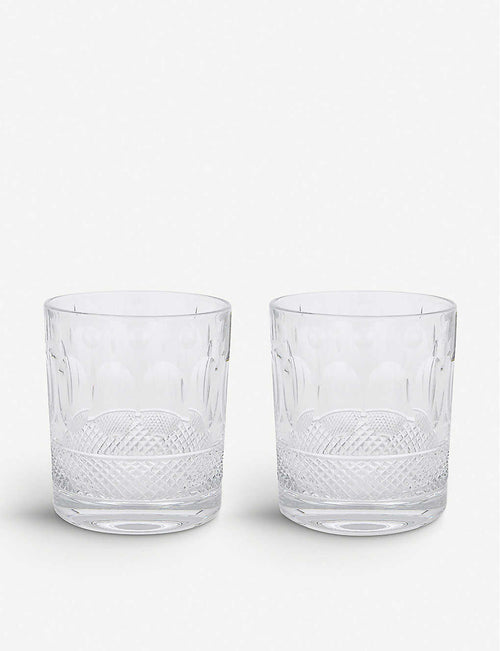 Belgravia set of two large crystal tumblers