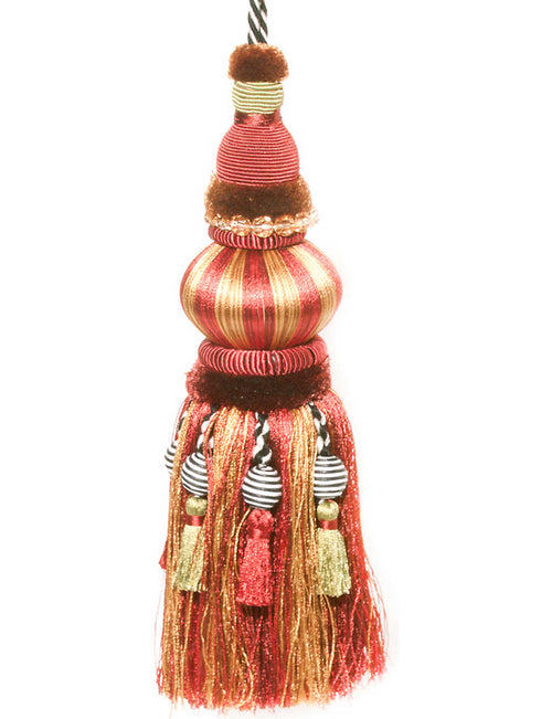 Bibelot red and gold tassel