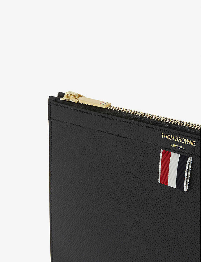 Tricolour tab grained leather folio