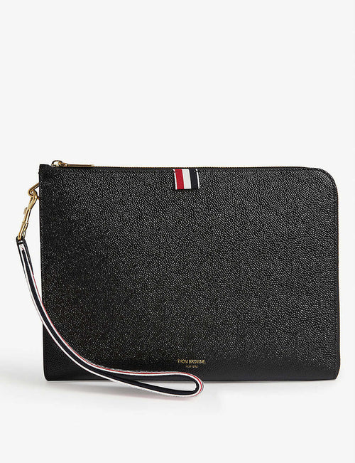 Pebbled leather folio