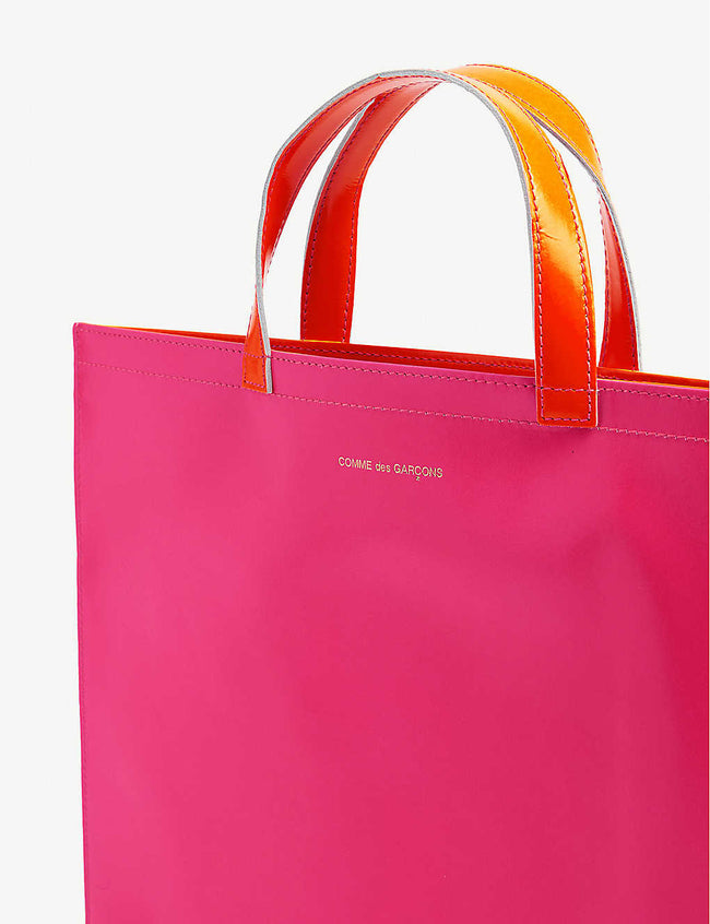 Super fluorescent leather tote