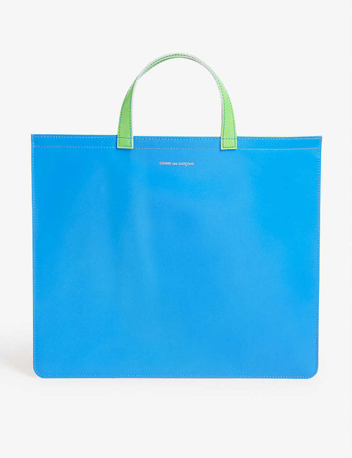 Fluorescent leather tote