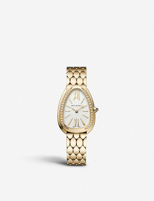 103147 Serpenti Seduttori 18ct yellow-gold and diamond watch
