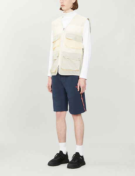 Contrast-piping jersey shorts