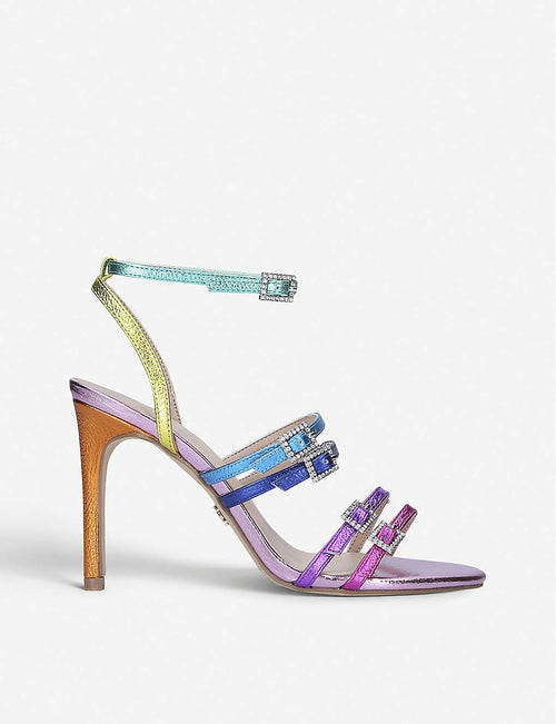Pierra rainbow leather heeled sandals
