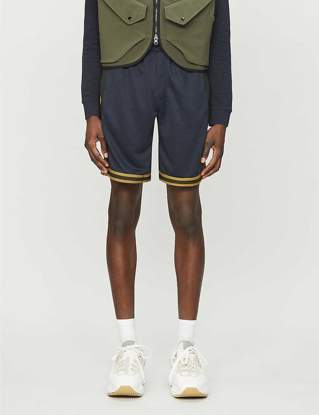 Panelled jersey shorts