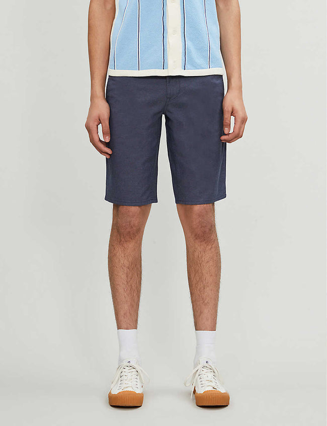 Straight slim-fit stretch-cotton shorts