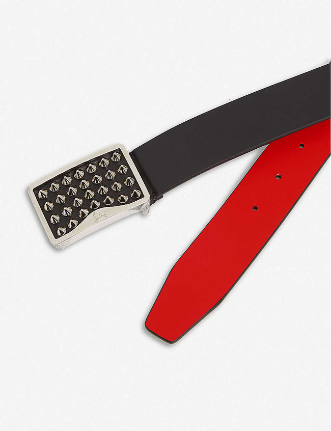 Louis belt 35 calf paris/spikes/metal