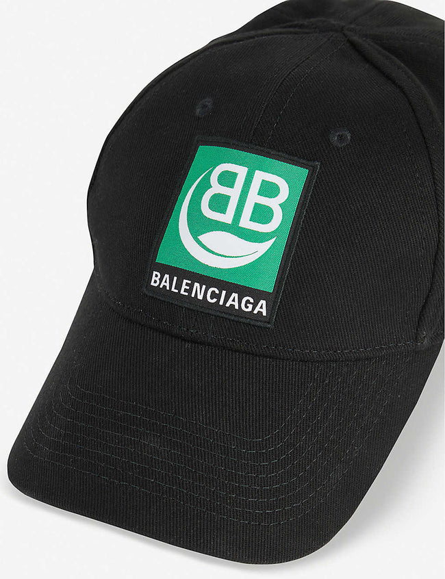 Logo-patch cotton baseball cap