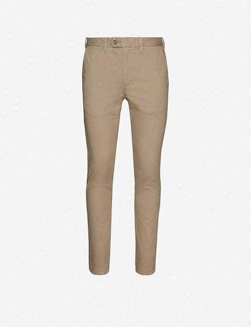 Super-slim-fit cotton-twill chinos