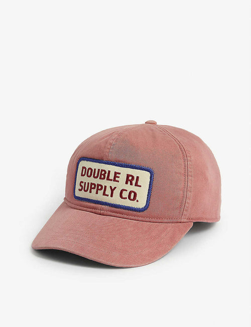 Logo patch cotton trucker cap
