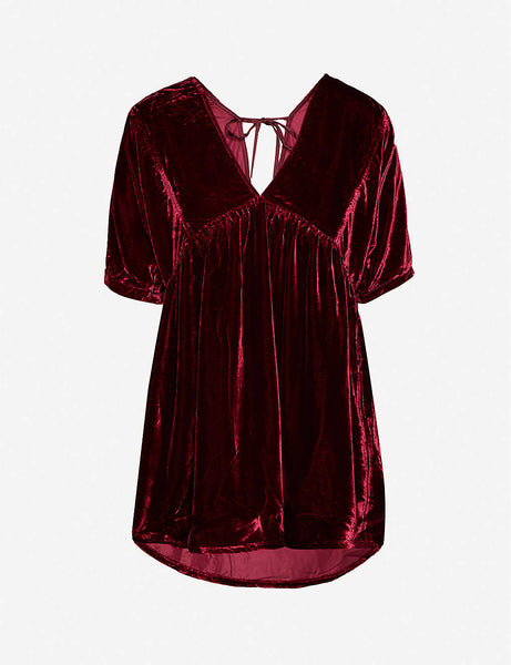 Ivy velvet mini dress