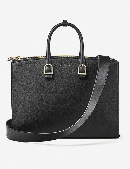 Madison saffiano leather tote bag