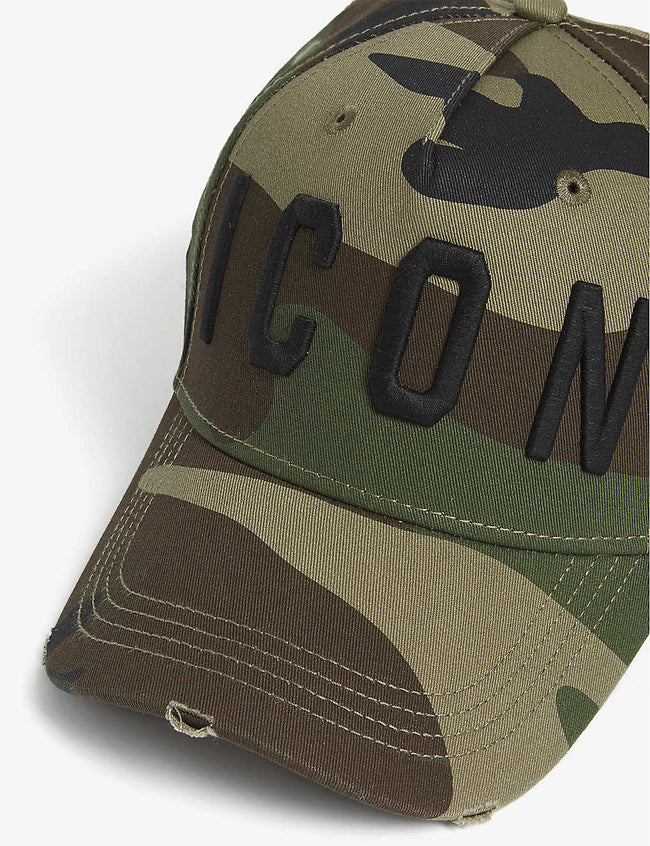 Logo camouflage cotton baseball cap