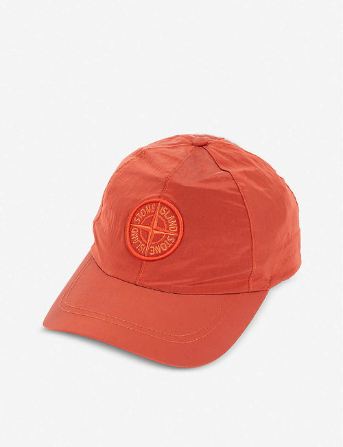 Embroidered-logo nylon baseball cap