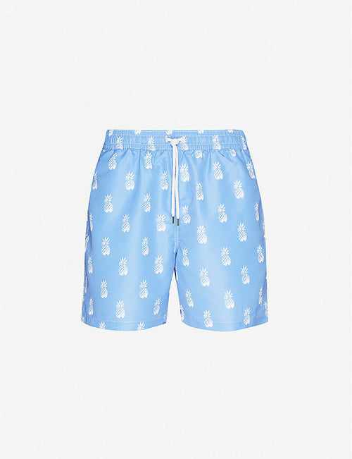 Traveller pineapple-print logo-embroidered swim shorts