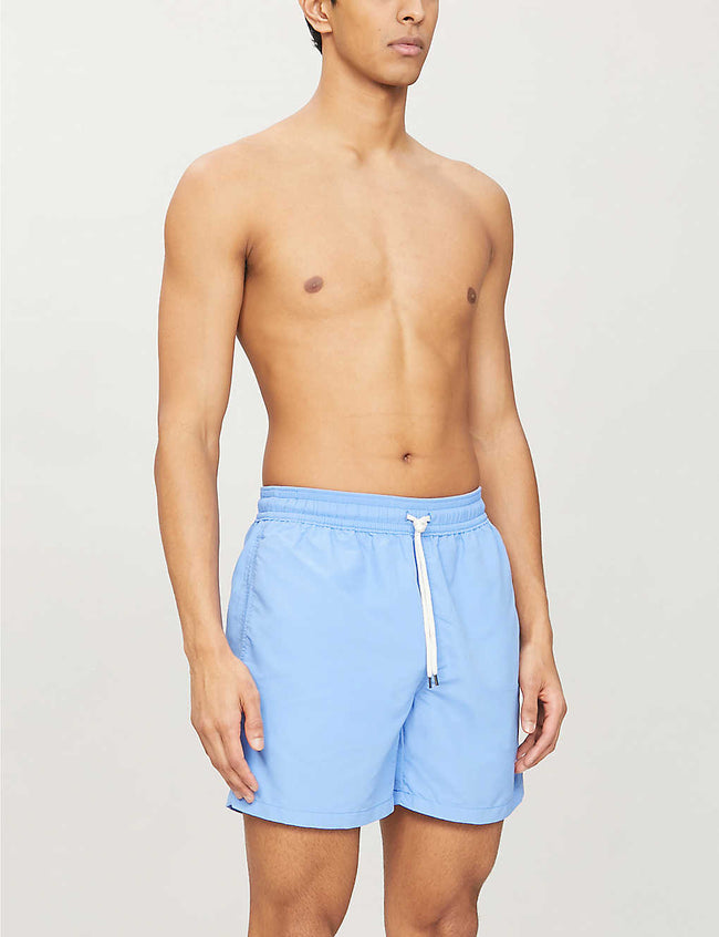 Traveler contrast-drawstring swim shorts
