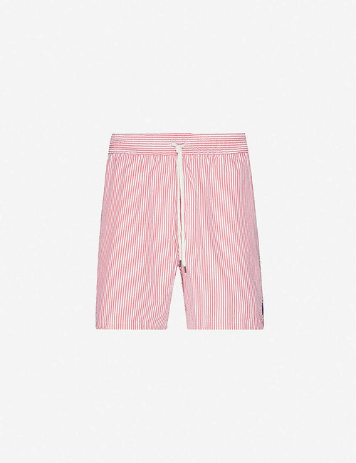 Traveller seersucker-print swim shorts