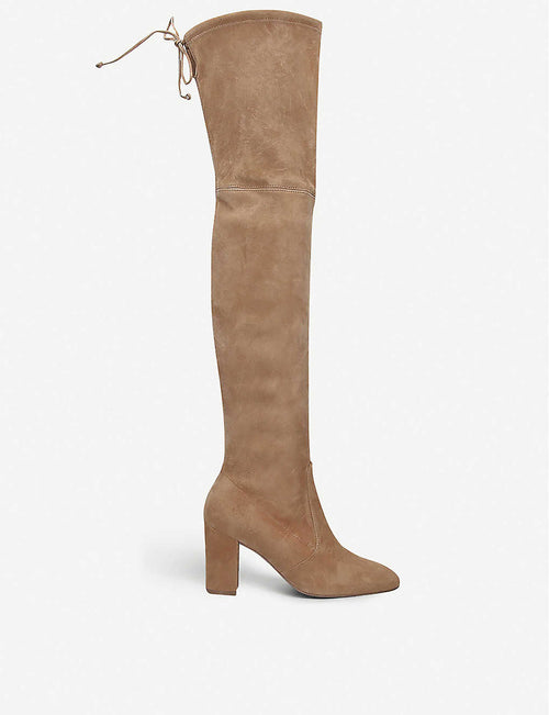 Zuzanna 80 stretch-suede over-the-knee boots