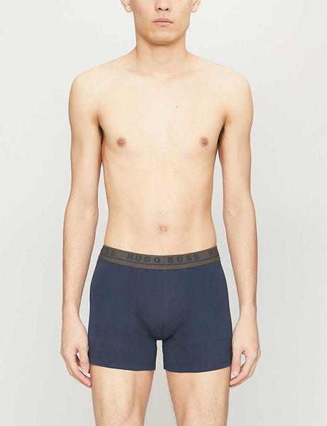 Pack of three stretch-cotton trunks