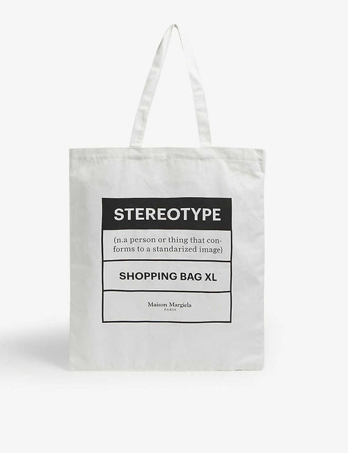 Stereotype large tote bag