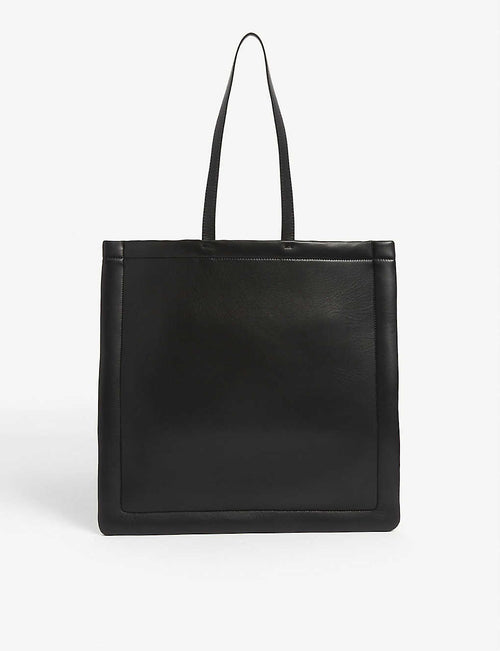 Four stitch leather tote bag