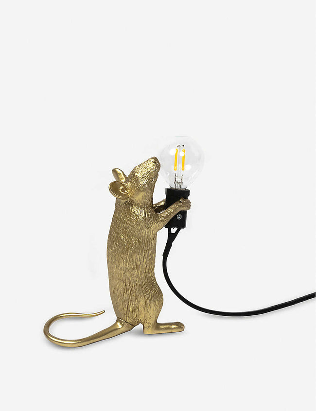 Step Mouse metallic resin lamp 15cm