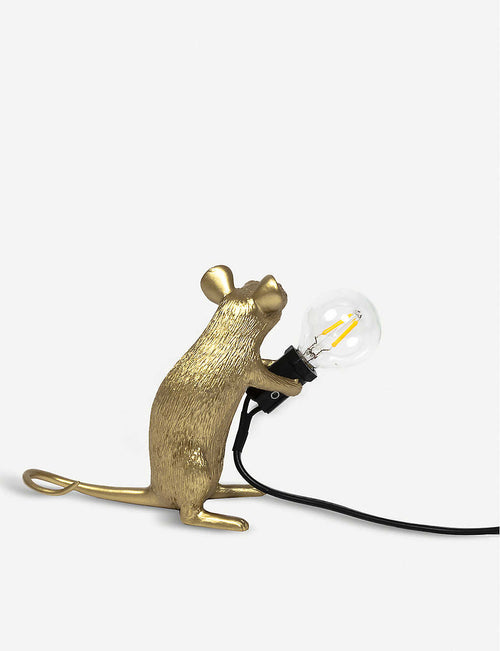 Mac Mouse metallic resin lamp 15cm