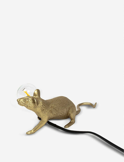 Lop Mouse metallic resin lamp 13cm