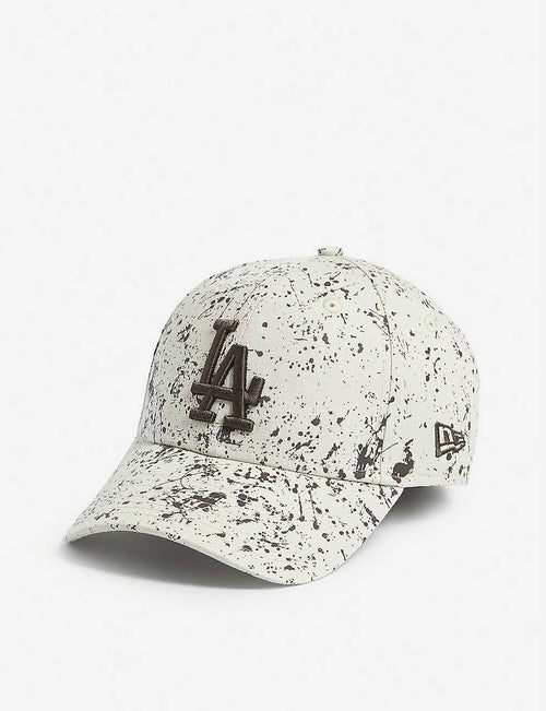 LA Dodgers paint splatter baseball cap