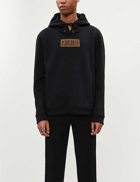 Logo-print cotton and cashmere-blend hoody