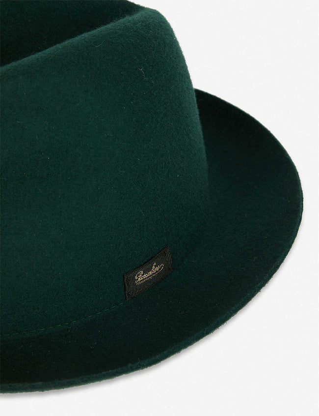 Logo-patch wool fedora