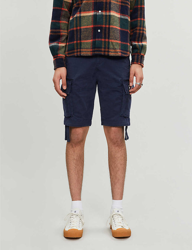 Slim-fit stretch-cotton cargo shorts