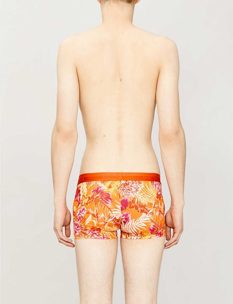 Equatorial Forest printed stretch-jersey trunks