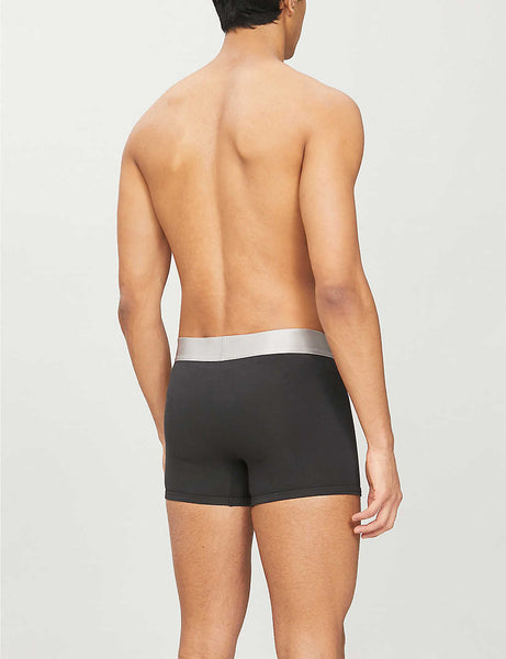 Regular-fit stretch-cotton trunks pack of three