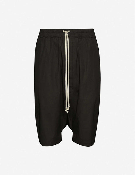 Straight stretch-cotton shorts
