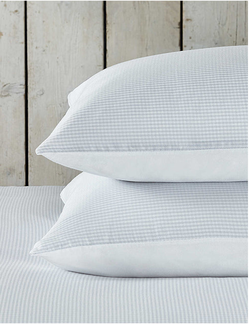 Portobello Gingham cotton classic super king pillowcase 50cm x 90cm