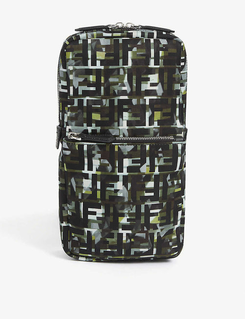 Baguette FF camouflage cross-body bag