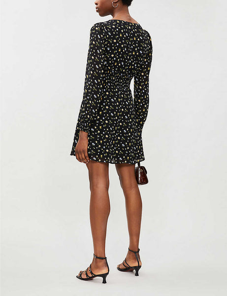 Alani floral-print crepe mini dress