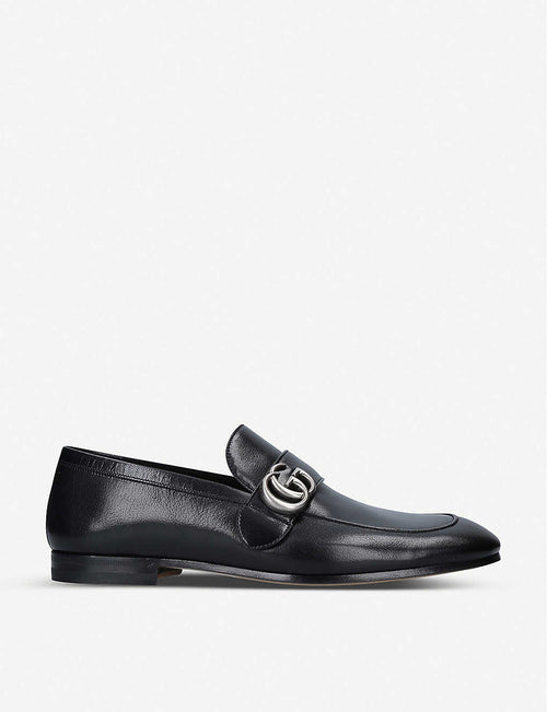 Donnie GG-embellished leather loafers